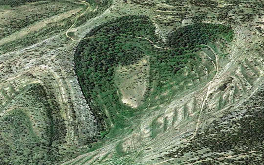 Vista aérea zona del Maestrazgo./Plataforma Paisajes de Teruel