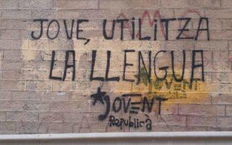 Denuncian nuevas pintadas vandálicas en el Matarraña por parte de las Juventudes de Esquerra Republicana