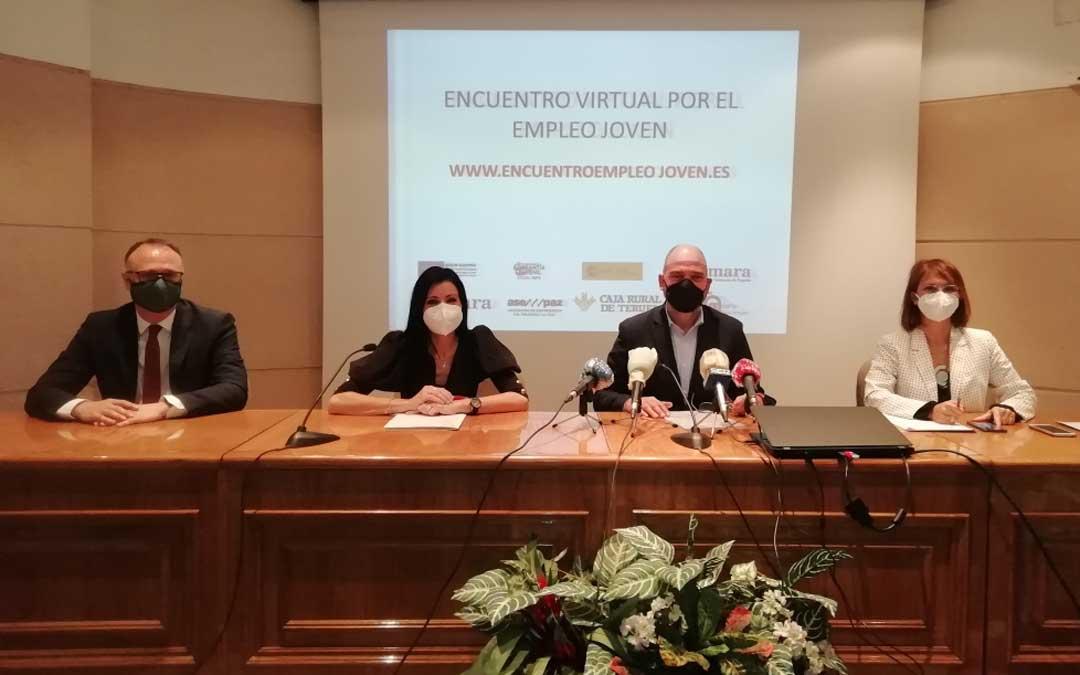 El encuentro virtual por el empleo joven organizado por la Cámara de Comercio se presentó este jueves en Teruel / C.C.