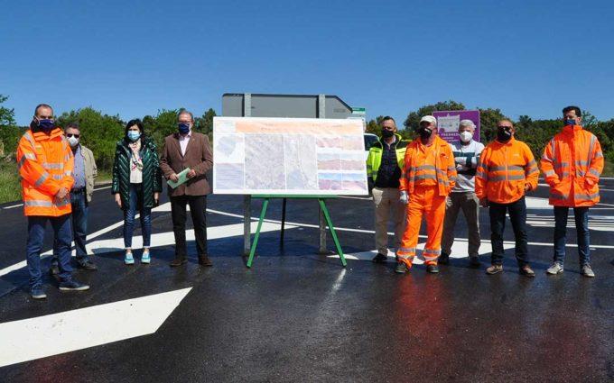 DGA finalizará la carretera de Mazaleón a Maella en julio y sustituirá el firme de la A-231, la A-221 y la A-1411