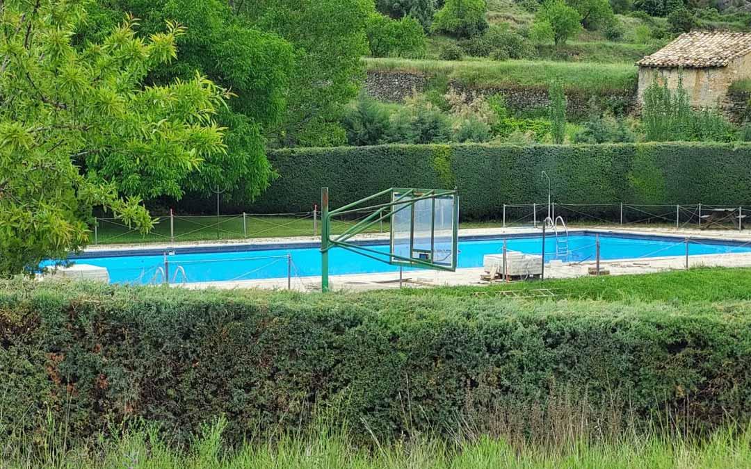 Las piscinas de Fuentespalda se encuentran en obras actualmente. J.L.