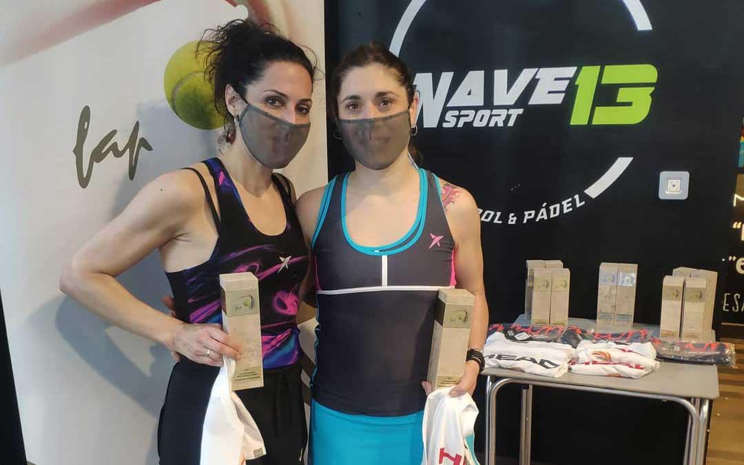 La pareja de Alcañiz Estela Bañolas-Marta Alquézar ganó en 1ª femenina / Nave 13