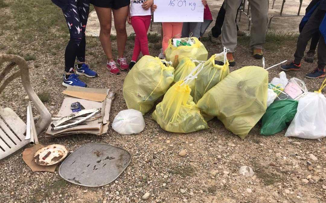 Residuos recogidos en La Puebla de Híjar. / Comarca del Bajo Martín