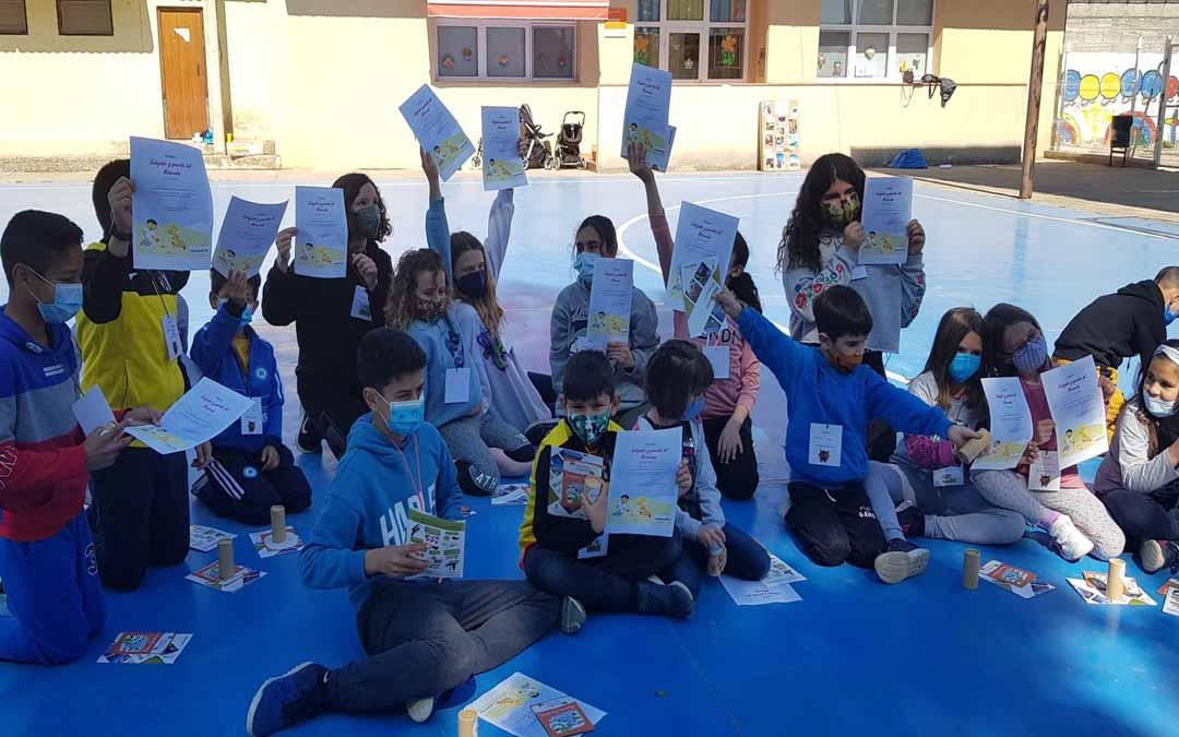 Los alumnos de Mazaleón han sido los últimos en participar en esta actividad durante la jornada del martes./ Comarca Matarraña