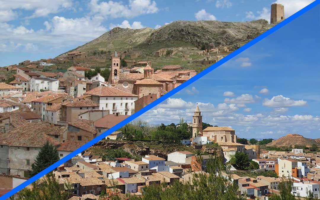 Localidades de Montalbán e Híjar./ L.C.