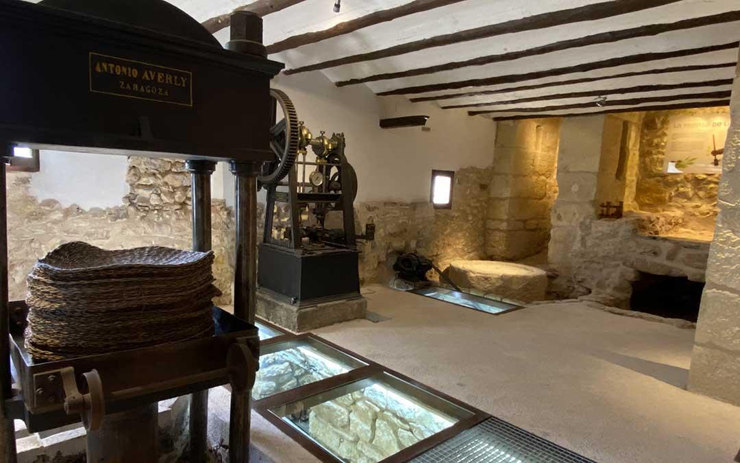 Museo del aceite de La Cañada de Verich, en pleno Bajo Aragón./ Alicia Martín