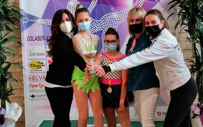 Yulia Franco del Patinaje Artístico Bajo Aragón sube al podio en el IV Trofeo Primavera