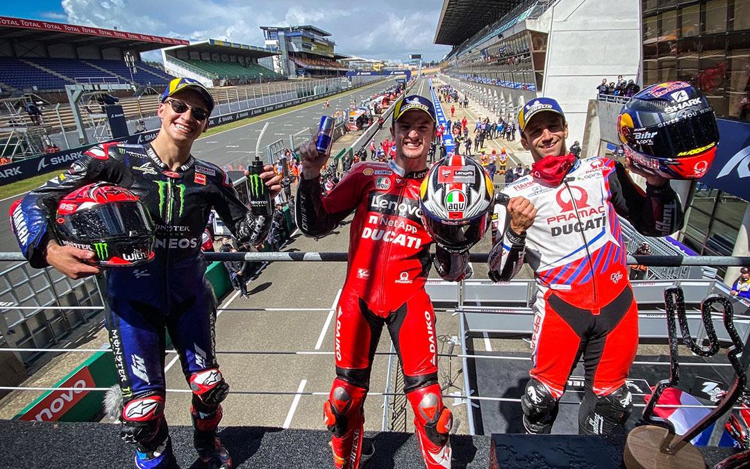 Podio de Le Mans. / MOTOGP