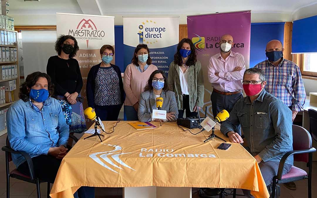 Invitados al programa especial emitido desde la sede de ADEMA, en Molinos./ A.M.