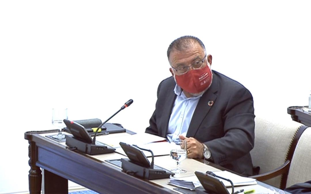 El diputado Herminio Sancho en la Comisión de Agricultura del Congreso./ PSOE