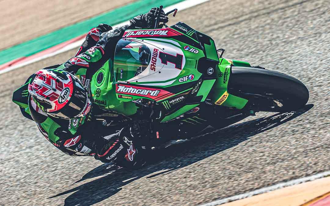 Rea a los mandos de su Kawasaki esta semana en Motorland Aragón. Foto: SBK