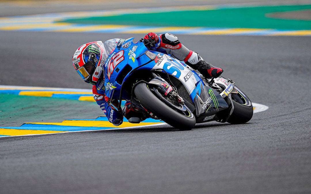 Álex Rins corriendo en el circuito de Le Mans. / SUZUKI TEAM