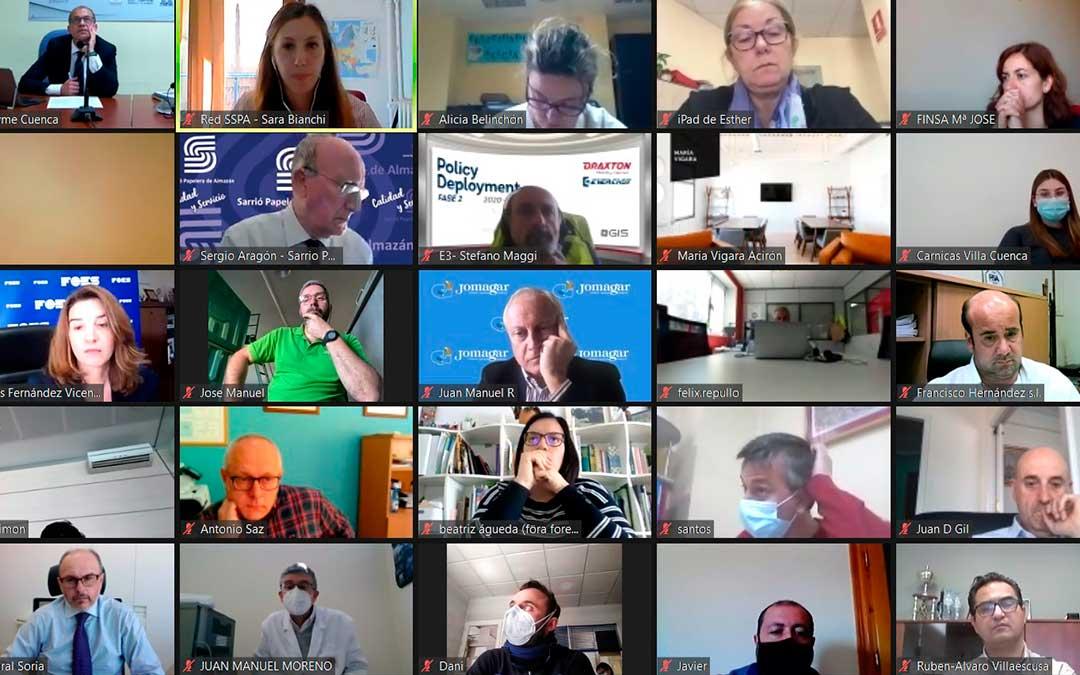 Webinar realizado por las CEOEs de Cuenca, Soria y Teruel./ SSPA