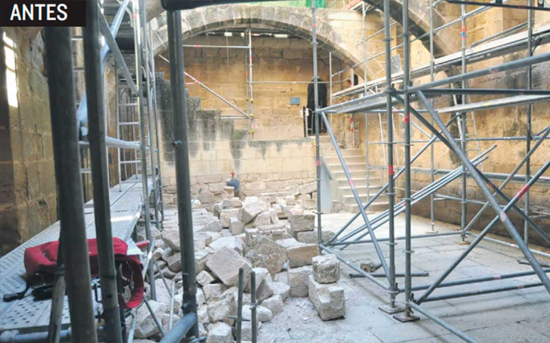 Imagen de la bodega antes de su restauración. J.L.