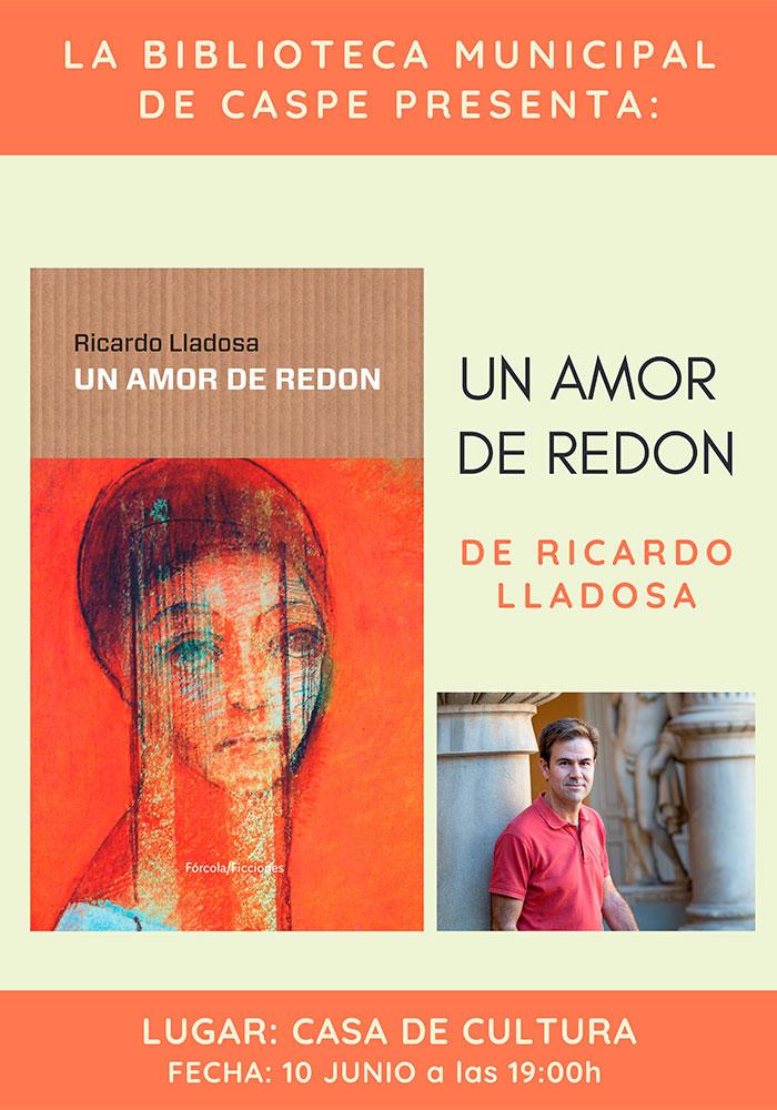 Presentación libro en Caspe «Un amor de Redon»