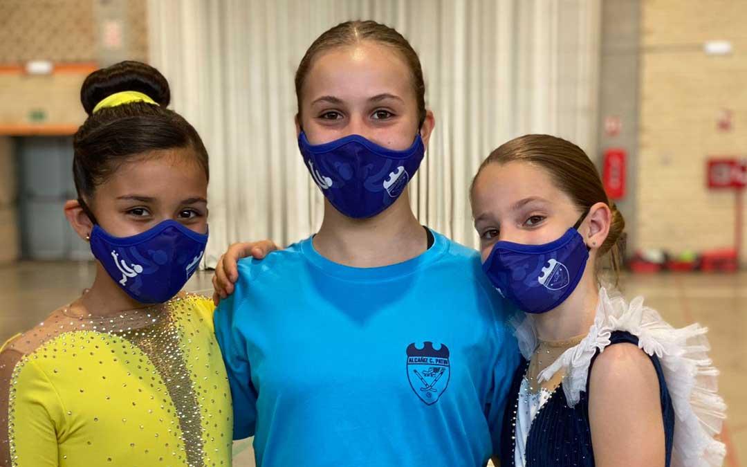 En la imagen de izquierda a derecha, Ainoha, Alexia y Jimena. Foto. E.V.
