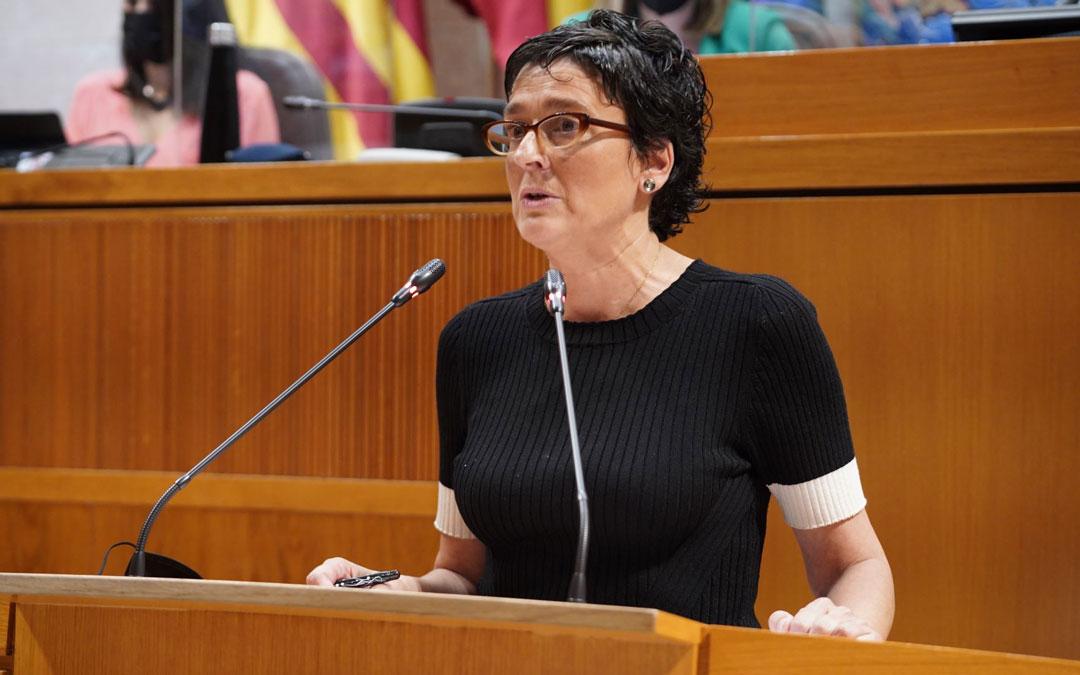 Ana Marín durante su comparecencia este viernes. / PP