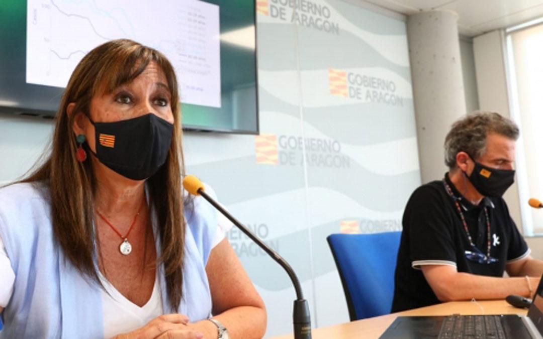 Sira Repollés y Francis Falo este martes en rueda de prensa / DGA