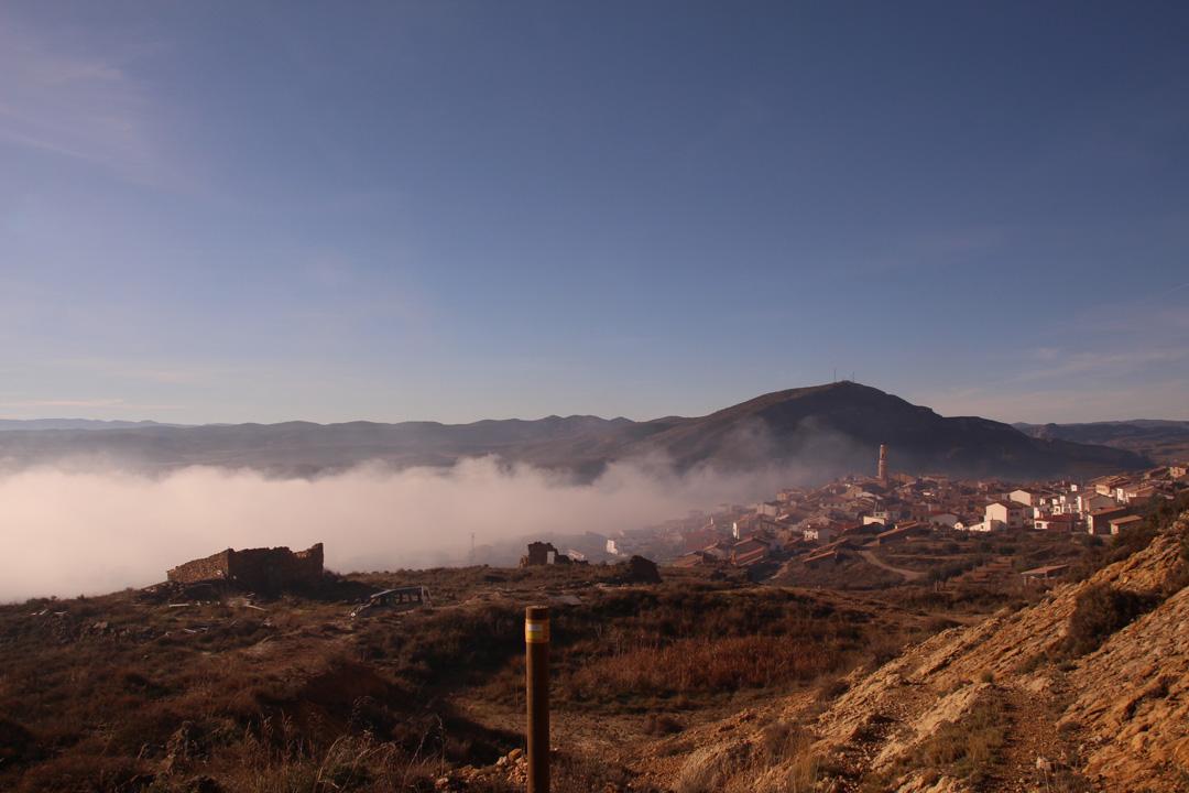vista panoramica ariño senderismo