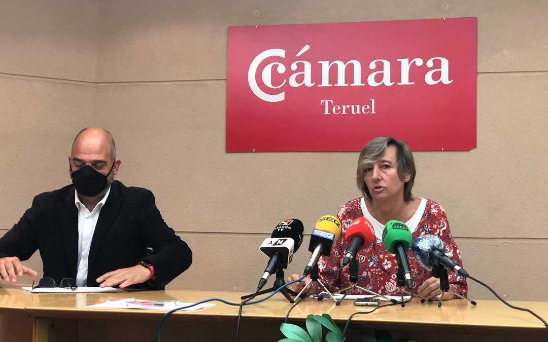 La directora general de Comercio, Ferias y Artesanía, Eva Fortea, ha desgranado junto al presidente de la Cámara de Comercio de Teruel, Antonio Santa Isabel, la convocatoria de 500.000 euros con cargo al FITE / DGA