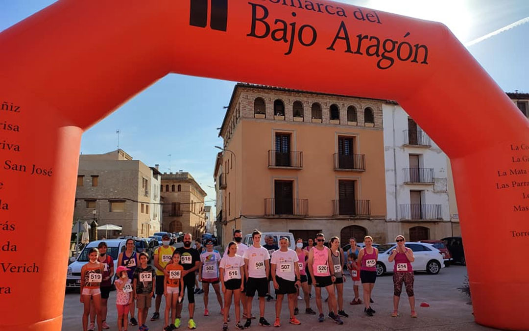 Participantes de la carrera celebrada en Castelserás./ Comarca Bajo Aragón