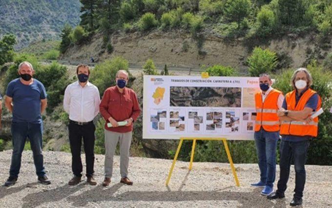 Finalizada la mejora en la carretera A-1702 entre Villarluengo y Cañada de Benatanduz