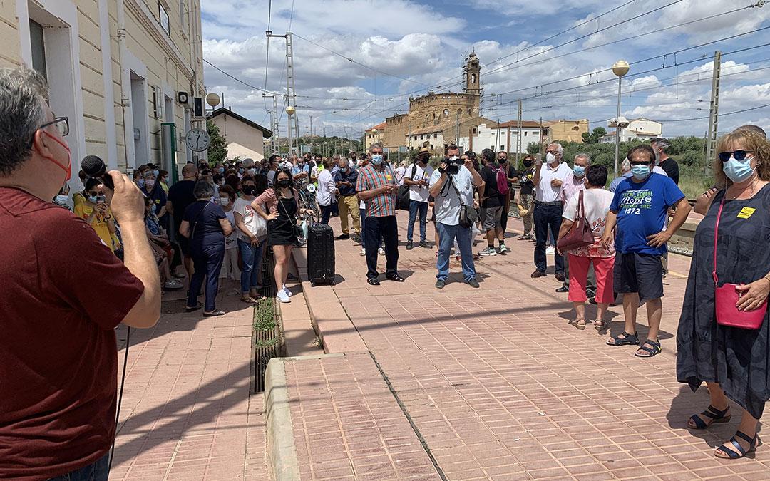 Movilización en Caspe. / M. Q.