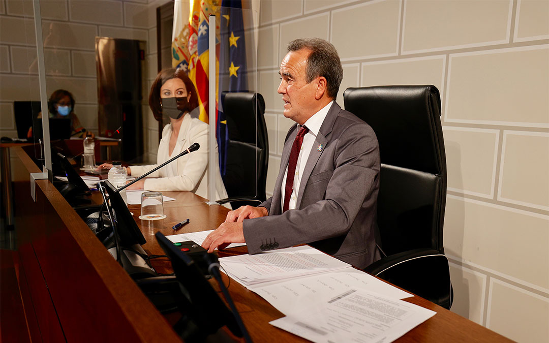 Pleno de la Diputación de Zaragoza celebrado este miércoles./ DPZ