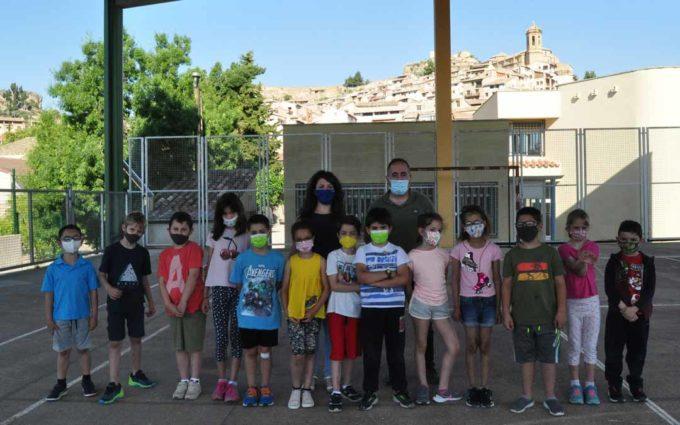Los alumnos del Colegio de La Fresneda  'Hacen historia'