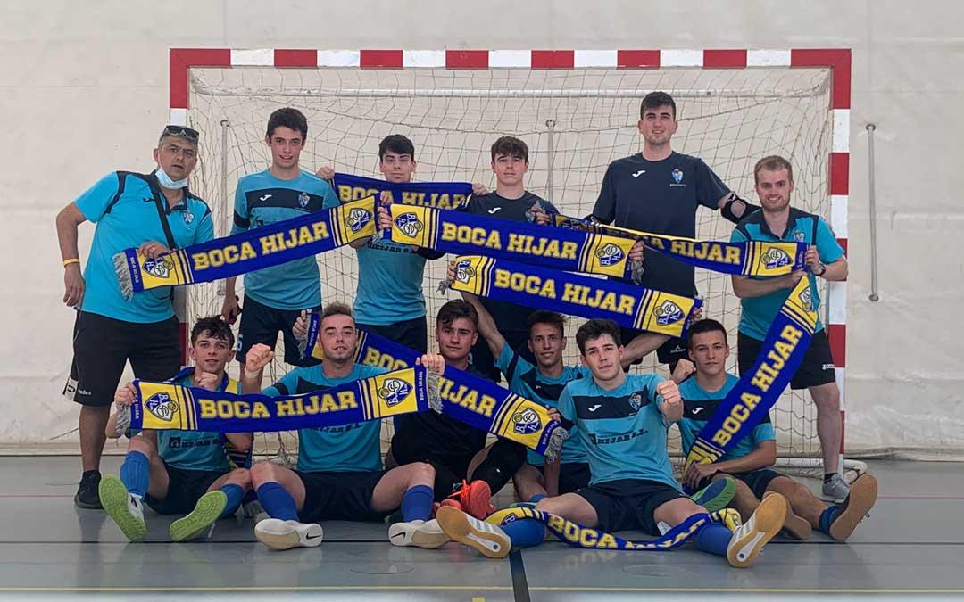 El equipo juvenil del Boca Híjar. Foto. Q.M.