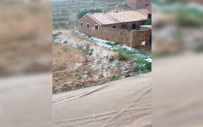 Riesgo de tormentas fuertes este jueves en todo el Bajo Aragón Histórico