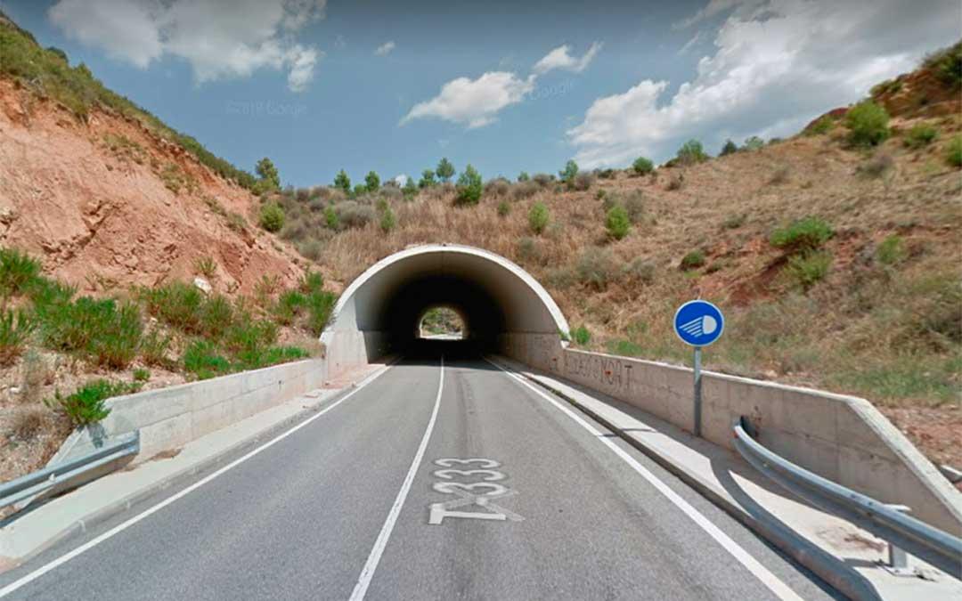 Túnel de la T-333 que desde la noche del míercoles permanece cortado. Google.