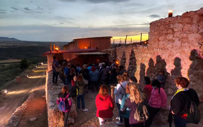 Cerca de cien personas han visitado este fin de semana el poblado de El Cabo en las Jornadas de Cultura Íbera