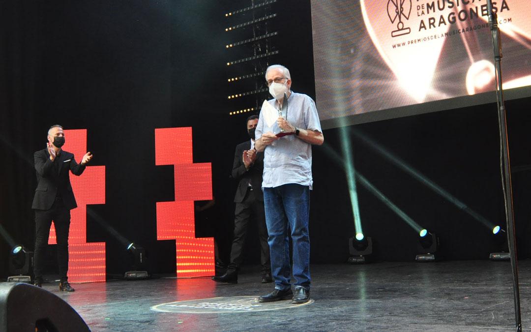 Ignacio Micolau ha sido reconocido con el Premio a la Trayectoria. J.L.