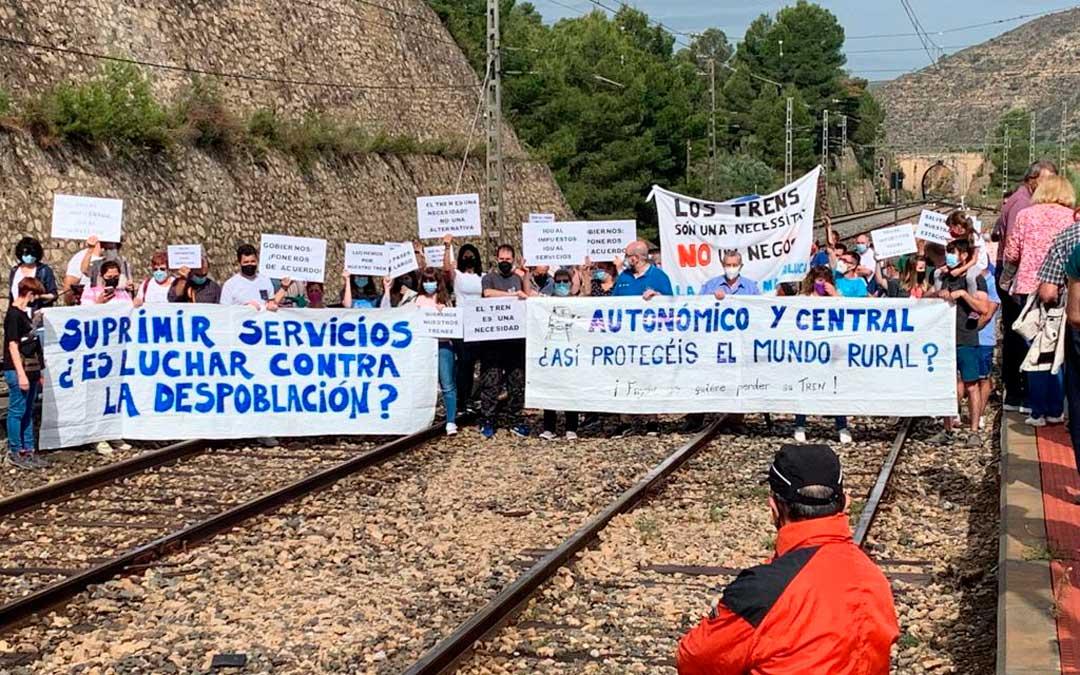La manifestación de Caspe el pasado domingo 20 de junio / María Quilez