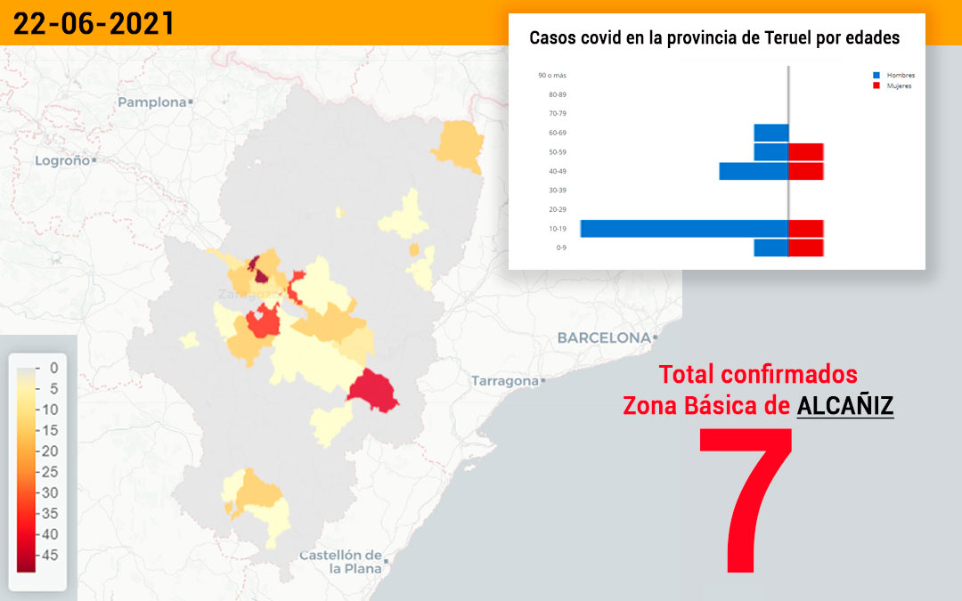 La zona básica de Alcañiz ha registrado 7 casos este miércoles./ L.C.
