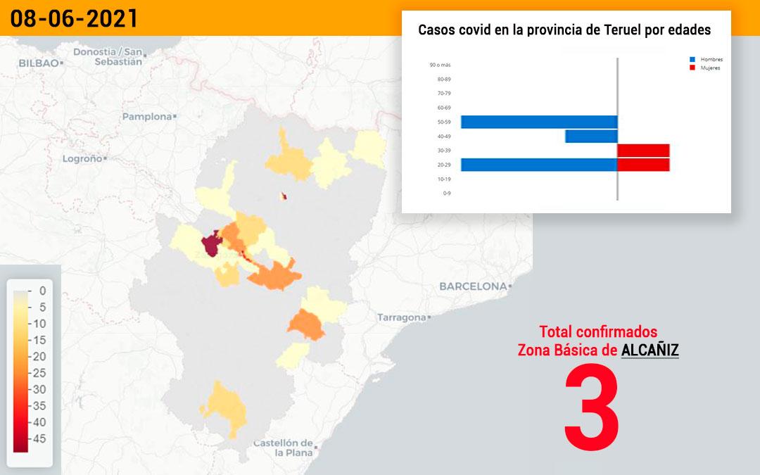 La zona básica de Alcañiz ./ L.C.ha registrado este miércoles 3 nuevos casos de covid