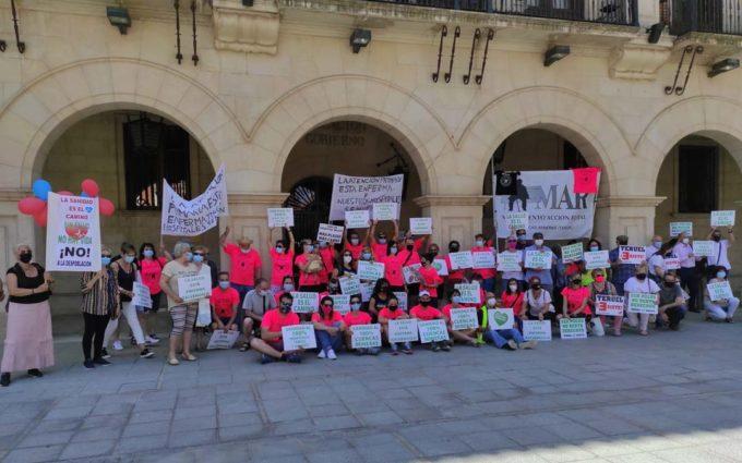 Una carrera de relevos llega a Teruel desde Utrillas para exigir una sanidad rural digna