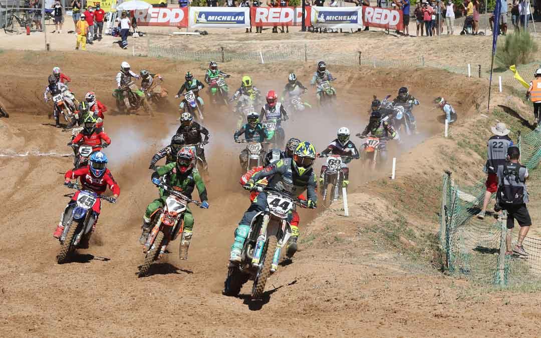 El motocross a nivel nacional regresa este fin de semana a Motorland Aragón. Foto. RFME
