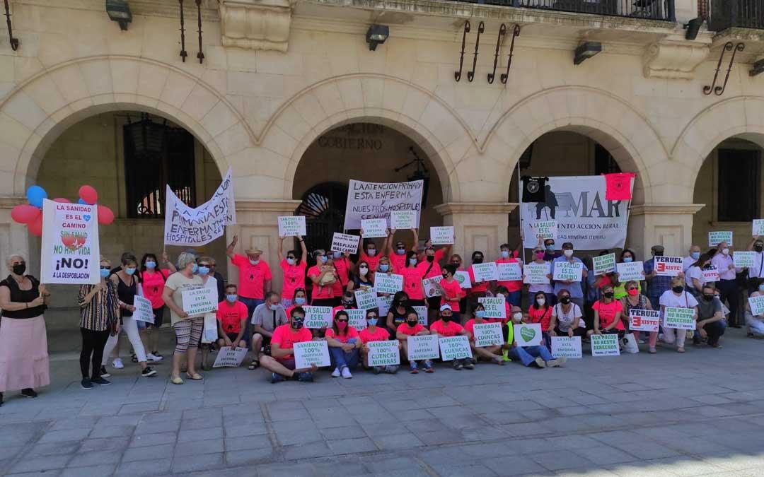 Integrantes del Movimiento de Acción Rural en Teruel./ MAR
