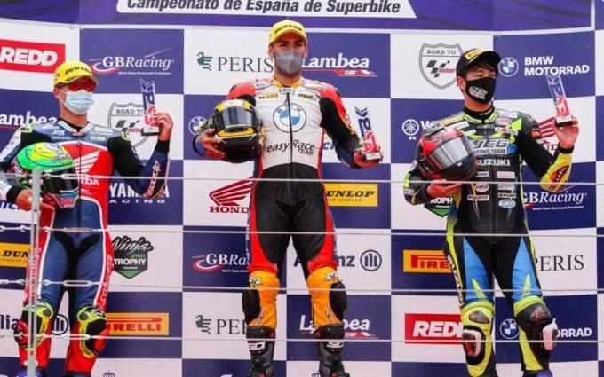 El portugués Ivo Lopes sale de Motorland como líder del nacional de Superbikes