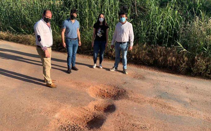 El Partido Popular exige «urgencia» en la reparación y conservación de caminos rurales