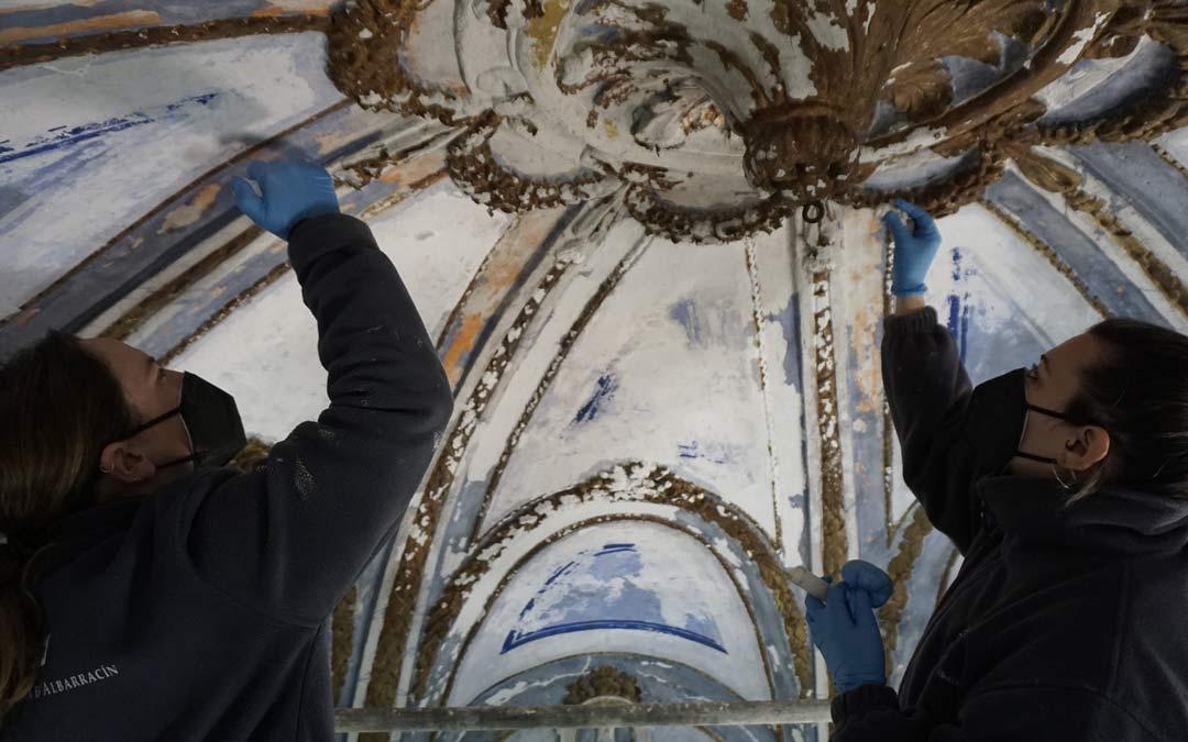 Trabajos de restauración de la Ermita del Loreto en Fortanete./Comarca Maestrazgo