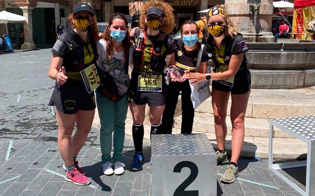 Las integrantes del Matarraña Team quedaron en segundo puesto en Teruel.