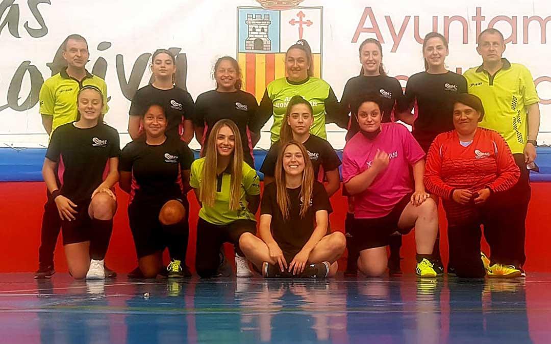 El equipo del Utrillas Fútbol Sala Femenino. Foto. Ayto. Utrillas