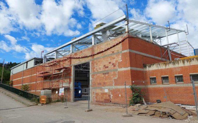 El pabellón de Valderrobres estará operativo el próximo mes