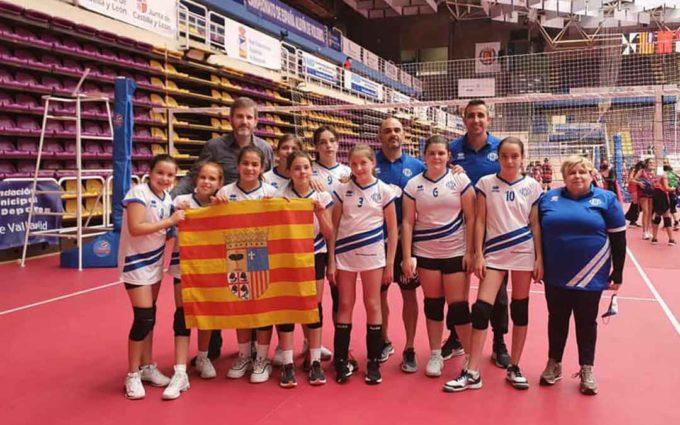 El alevín del Club Voleibol Alcañiz se despide del Campeonato de España con una victoria