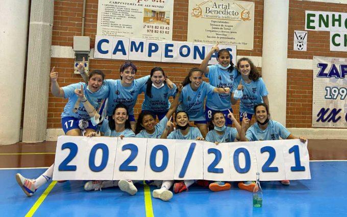 Las jugadoras del Zafán F.S. se proclaman campeonas de liga