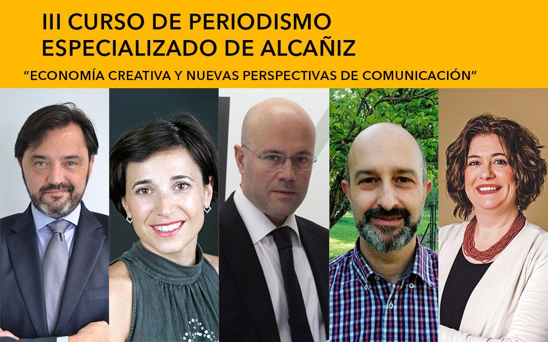 Los ponentes Andrés Dulanto (OkDiario), Eduardo Sánchez (Comunicanza), Mercedes Gracia (Cámara de Comercio), Santiago Izuel (IZE) y Susana Campos (Baúl de la Comunicación) / L.C