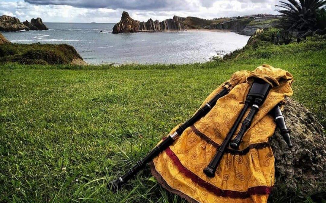 Entre los instrumentos tradicionales y medievales, una de las especialidades de Pablo Morales es la gaita / P.M.